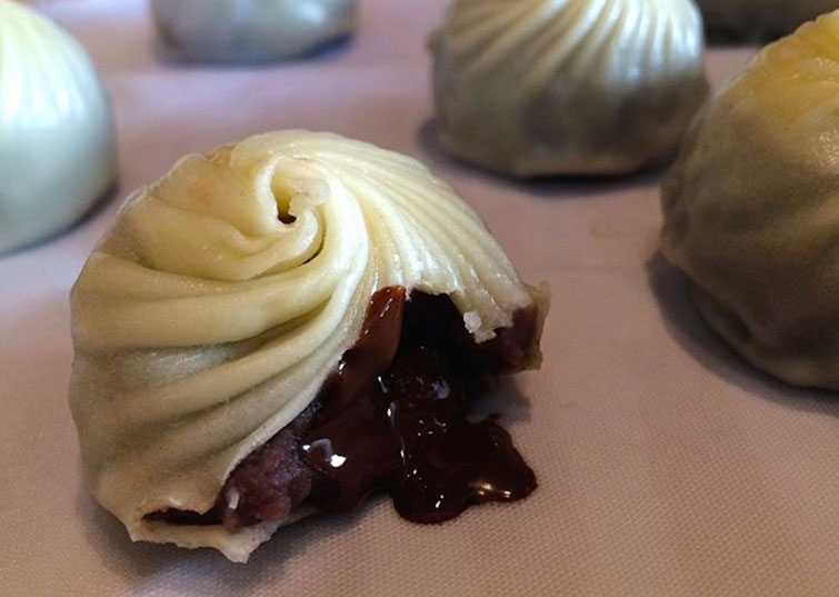 STEAMED CHOCOLATE DIMSUMS